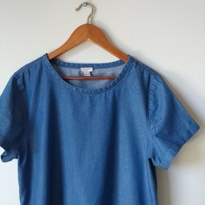 J. Crew ▪ 100% Cotton Chambray Top